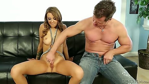 Fingering hairy pussy with nice medium tits girl Pressley Carter