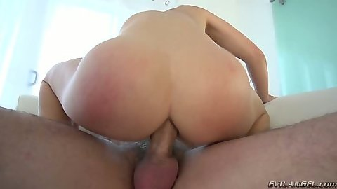 Cowgirl anal insertion and making out with moaning Krissy Lynn