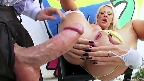 Courtney Taylor anal fuck with deep throat ass to mouth gagging whore