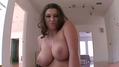Natural big tits Sara Stone poses her all natural body