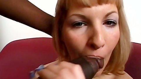 Big black cock blowjob from petite white slut Nina and some fuck