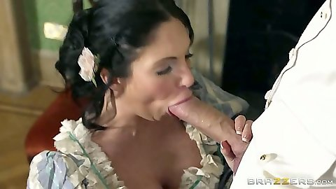 Big dick blowjob and standing fuck up the dress with Emily B