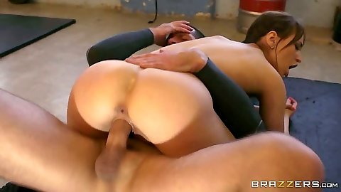 Gym workout fuck with all natural sporty girl Aleska Diamond
