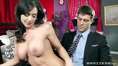 Big tits milf brunette and a dude in a suit in lusty action Kendra Lust