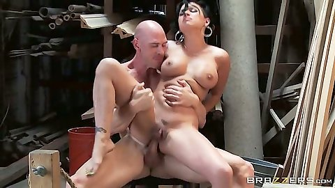Nice reverse cowgirl anal sex with ass to mouth dick cleaning Eva Angelina