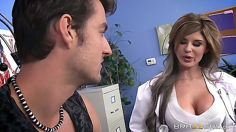 Chloe Chaos a doctor that is hot and in uniform sucking lollipop