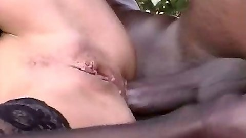 Anal close up with Charley Spark getting her ass stretched outdoors
