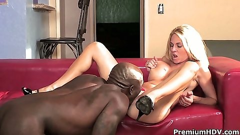 Pussy licking black cock white girl with big tits sex from Angela Attison