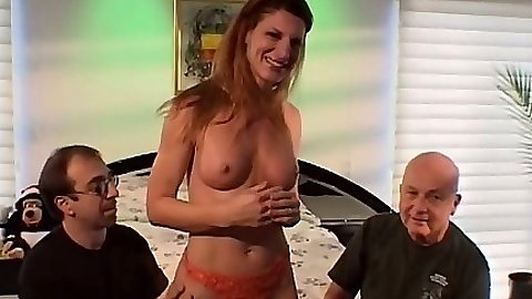 Group pussy licking and blowjob from natural tits mature milf