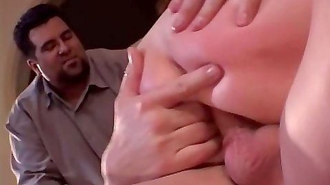 Cowgirl anal and ass fingering wife Jenny Lovitt with husband watching cuckold