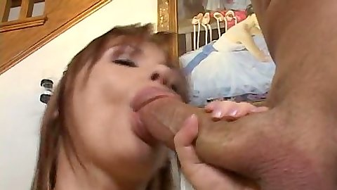 Big dick blowjob and unloading a huge cum load on Katja Kassin face
