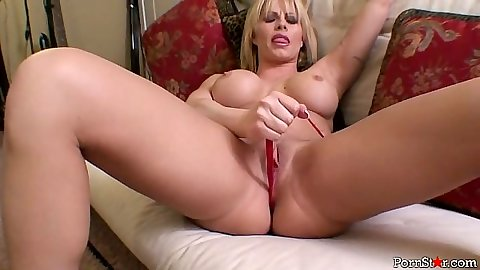 Milf blonde rips her underwear off with Brooke Haven