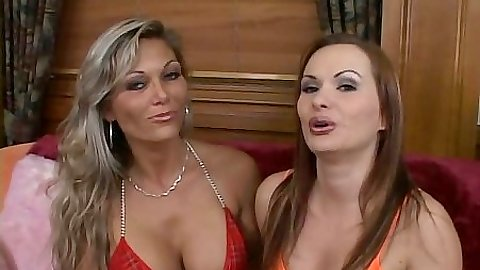 Bikini girls Katja Kassin and Anna spreading ass with pussy and anus licking