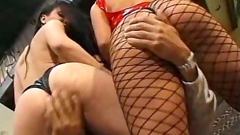 Fishnet fingering and ass licking whores Katja Kassin