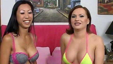 Bikini lesbian girls Katja Kassin and Tia handjob bonanza