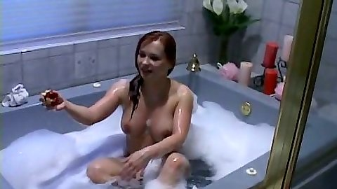 Redhead Katja Kassin wet and horny pov soapy blowjob in shower cabin