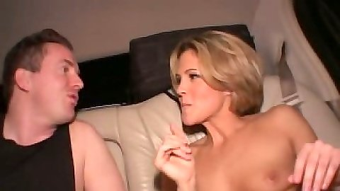 Blonde naked girl with small as hell tits Riley Brooks driving in the back