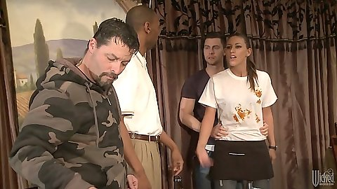 Group get together with Rilynn Rae taken to room to fuck