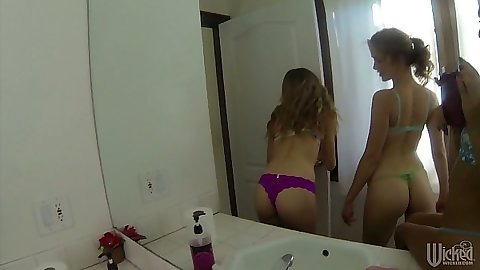 Bras and panties selfies with  Kimber Day and a blowjob close up