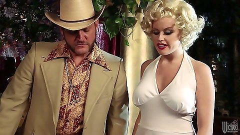Parody fully clothed threesome sex with cowboy Codi Carmichael