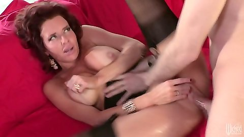 Big tits tanline on tits milf sex with stockings Veronica Avluv