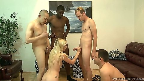 Group Maia Davis  and bisexual men in orgy