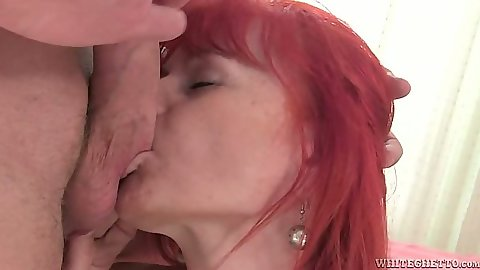 Sucking balls and sitting on dick mature woman Patricie