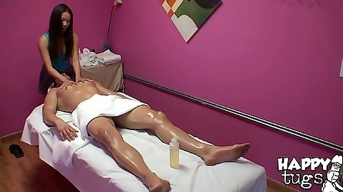 Oil massage from cfnm asian happy tug girl Kalina Ryu