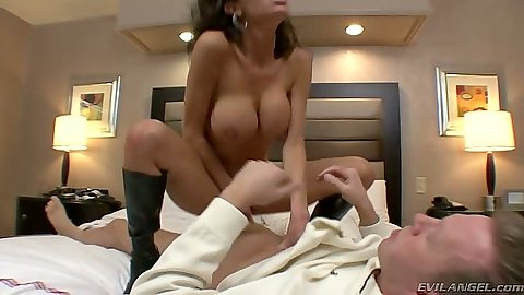 Cowgirl big tits brunette skinny and horny Veronica Avluv and Francesca Le