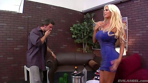 Big tits babe Nikita Von James sits on face in mean cuckold
