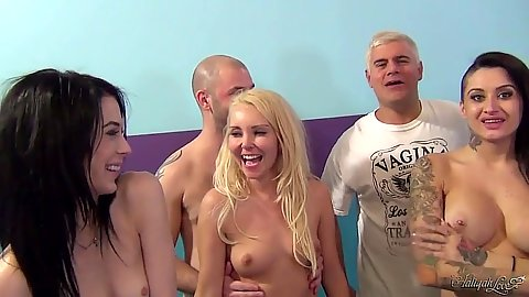 Group orgy including Porno Dan and Alby Rydez with  Aiden Ashley
