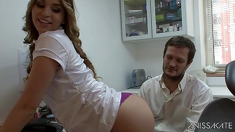 Eating and licking nice tight ass on Aleska Diamond wearing stockings