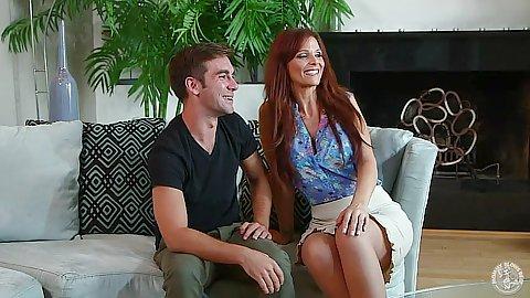 Miniskirt redhead lovely Syren De Mer