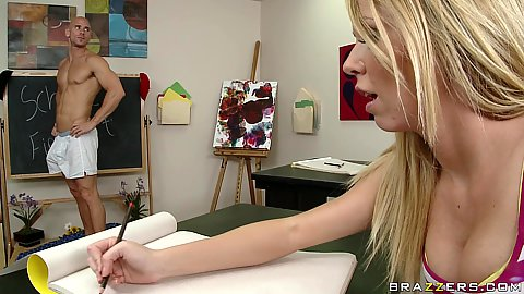 Busty student gets a big dick school classwork