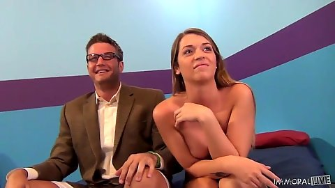 Jenna Leigh medium tits naked girl sitting with dressed man and then on his face