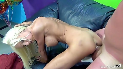 Doggy style and masturbating skinny athletic girl Rikki Six