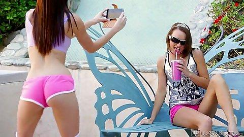 Carmen Calloway and Jayden Woods bikini girls having a party