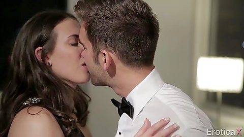 Kissing and undressing Casey Calvert