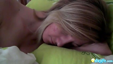 Blonde milf having a nap and likes to sleep naked