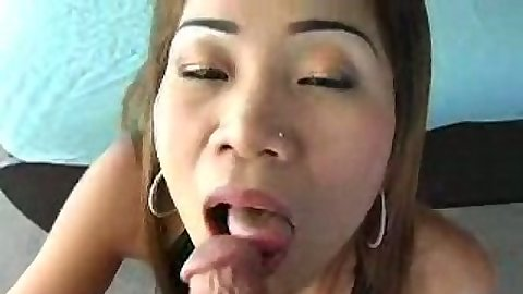 Asian pov blowjob and shaved pussy entry close up for a slut