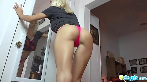 Great ass milf showing her body on home video scene