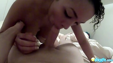 Blowjob with latina serena on her knees in pov also