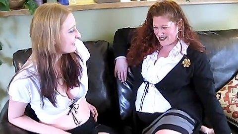 Monika Maple and Jennifer Van Beaver with bbw lesbian loves
