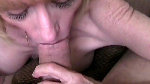 Melanie Skyy Pov mature cock sucking view