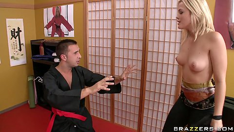 Hot Karate slut Alexis Texas fucks master Lees dick