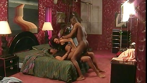 Two guys bang this black chick in MMF style