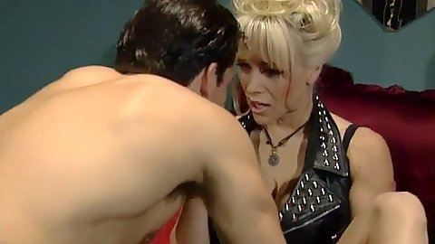 Blonde milf Kaitlyn Ashley gets eaten and shows large juggs