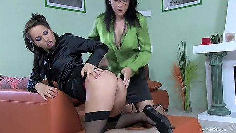 Honey Lovely and Aleska Diamond fully clothed naughty wet girls