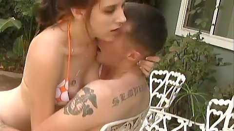 Young Cherry teen Dianna gets bikini fucked by the pool
