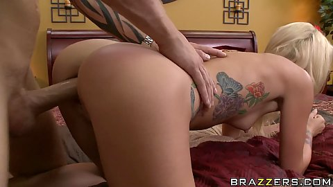 Horny house wife doggy style fucked by the pizza guy